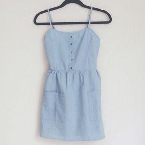 SmilingBear Dresses - NWT Light blue denim mini sun dress w button
